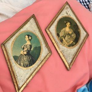 Italian Florentine plaques